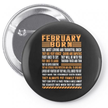 February Born Tshirt Pin-back Button Designed By Omer Acar