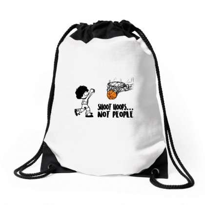 Shoot Hoops Not People Drawstring Bags Designed By Omer Acar