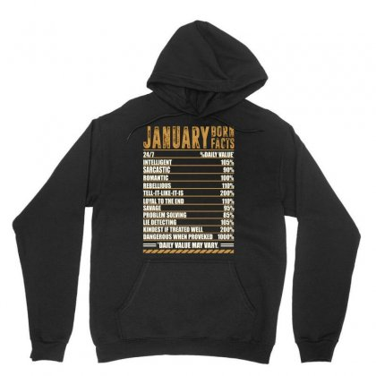January Born Facts Unisex Hoodie Designed By Omer Acar