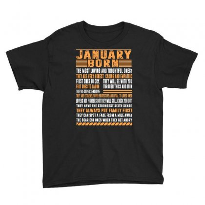 January Born Tshirt Youth Tee Designed By Badaudesign