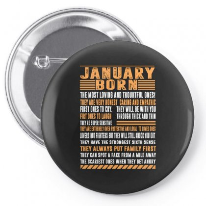 January Born Tshirt Pin-back Button Designed By Omer Acar