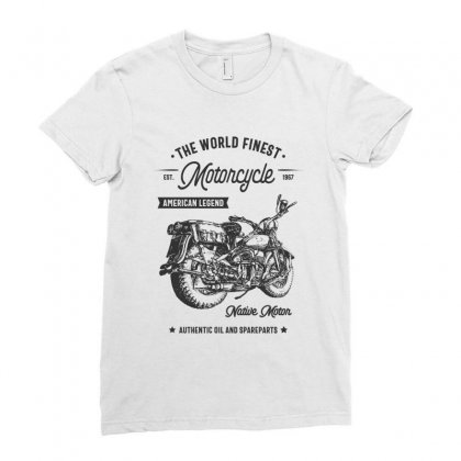 The World Finest Motorcycle Ladies Fitted T-shirt Designed By Cidolopez