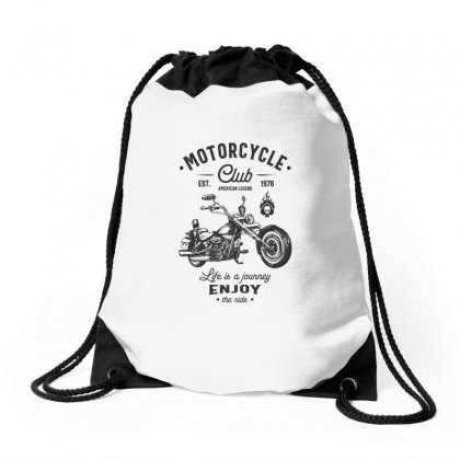 Motorcycle Club Drawstring Bags Designed By Cidolopez