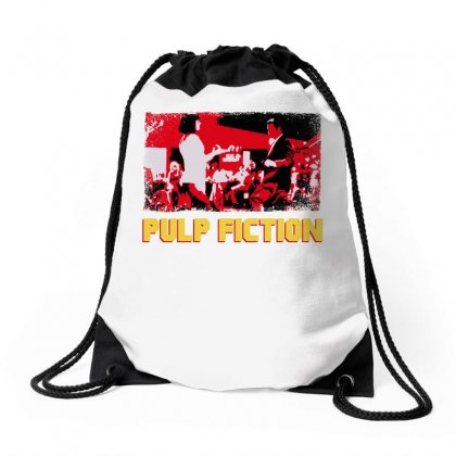 Pulp Fiction Drawstring Bags Designed By Hasret