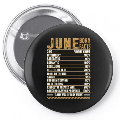 June Born Facts Pin-back Button Designed By Omer Acar