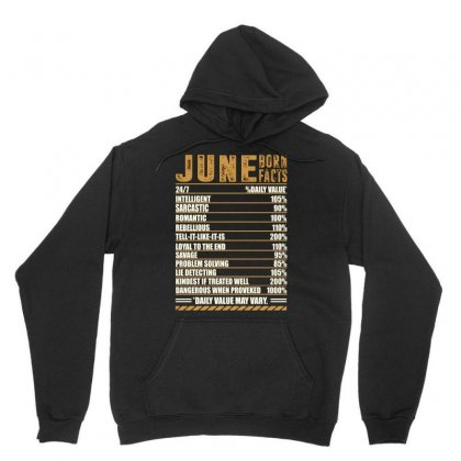 June Born Facts Unisex Hoodie Designed By Omer Acar