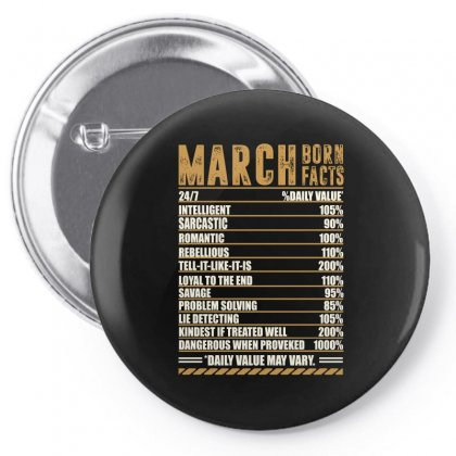March Born Facts Pin-back Button Designed By Omer Acar