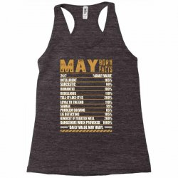 may born facts Racerback Tank | Artistshot