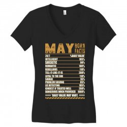 may born facts Women's V-Neck T-Shirt | Artistshot