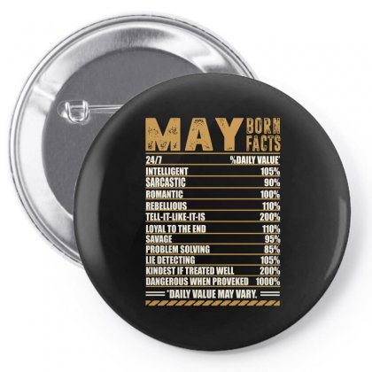 May Born Facts Pin-back Button Designed By Omer Acar