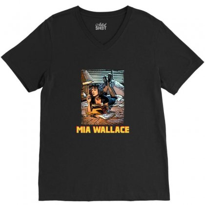 Mia Wallace V-neck Tee Designed By Hasret