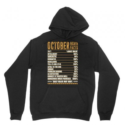October Born Facts Unisex Hoodie Designed By Omer Acar