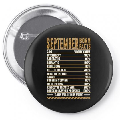 September Born Facts Pin-back Button Designed By Omer Acar