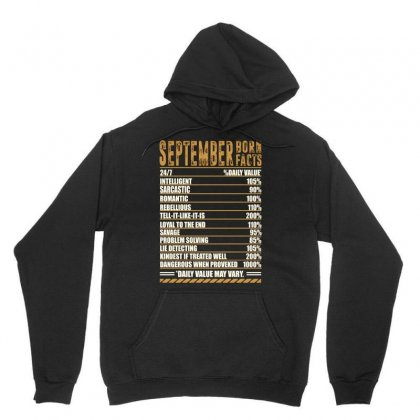 September Born Facts Unisex Hoodie Designed By Omer Acar