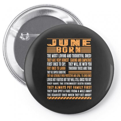 June Born Tshirt Pin-back Button Designed By Omer Acar