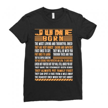 June Born Tshirt Ladies Fitted T-shirt Designed By Omer Acar
