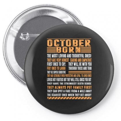 October Born Tshirt Pin-back Button Designed By Omer Acar
