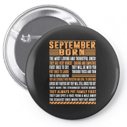 September Born Tshirt Pin-back Button Designed By Omer Acar
