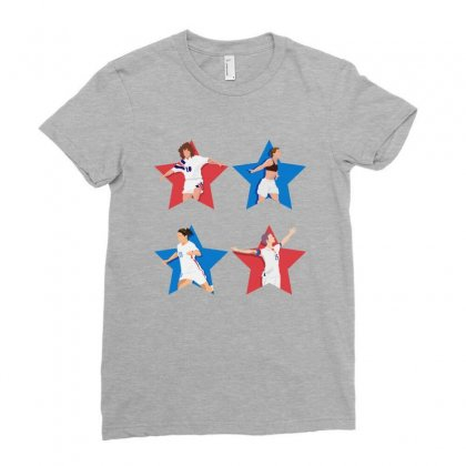 Uswnt 4 Stars Women Ladies Fitted T-shirt Designed By Seda