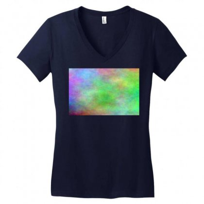 Render Cloud Multi Colors Women's V-neck T-shirt Designed By Kayanphoto