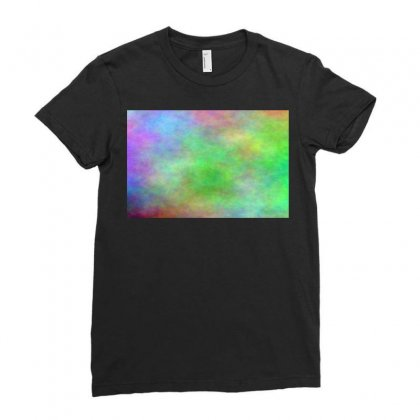 Render Cloud Multi Colors Ladies Fitted T-shirt Designed By Kayanphoto