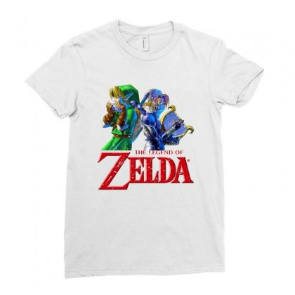The Legend Of Zelda Ladies Fitted T-shirt Designed By Seda