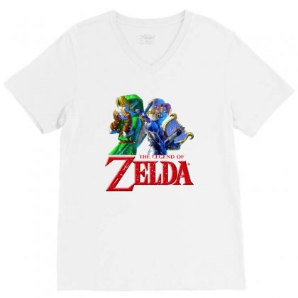 The Legend Of Zelda V-neck Tee Designed By Seda