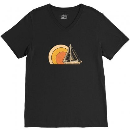 Ship V-neck Tee Designed By Gurkan