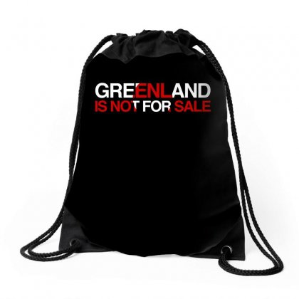 Greenland Is Not For Sale Drawstring Bags Designed By Hasret
