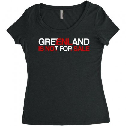 Greenland Is Not For Sale Women's Triblend Scoop T-shirt Designed By Hasret