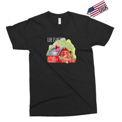 Life Is Better On The Farm For Dark Exclusive T-shirt Designed By Sengul
