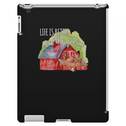 Life Is Better On The Farm For Dark Ipad 3 And 4 Case Designed By Sengul