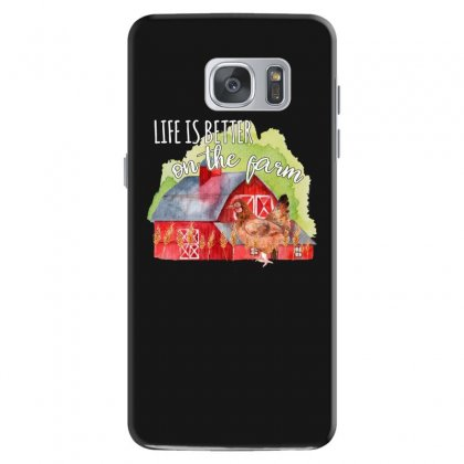 Life Is Better On The Farm For Dark Samsung Galaxy S7 Case Designed By Sengul