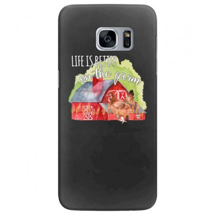 Life Is Better On The Farm For Dark Samsung Galaxy S7 Edge Case Designed By Sengul