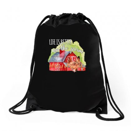Life Is Better On The Farm For Dark Drawstring Bags Designed By Sengul
