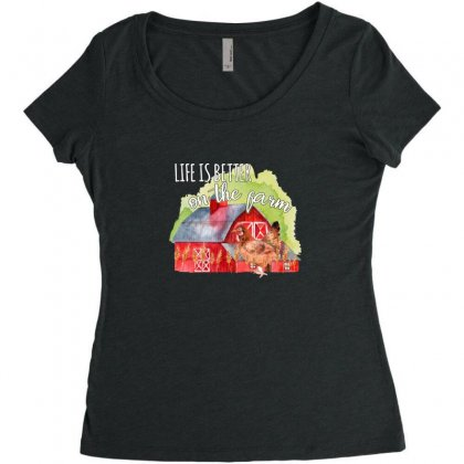 Life Is Better On The Farm For Dark Women's Triblend Scoop T-shirt Designed By Sengul