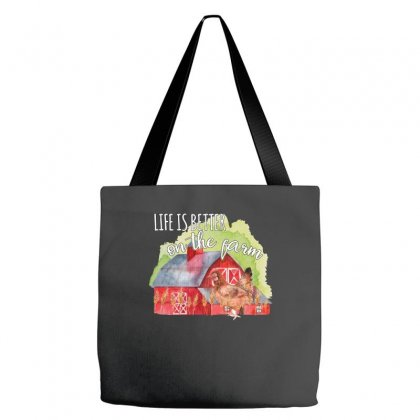 Life Is Better On The Farm For Dark Tote Bags Designed By Sengul
