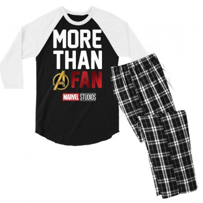 Studios More Than A Fan 2019 Graphic T Shirt Men's 3/4 Sleeve Pajama Set Designed By Nhan