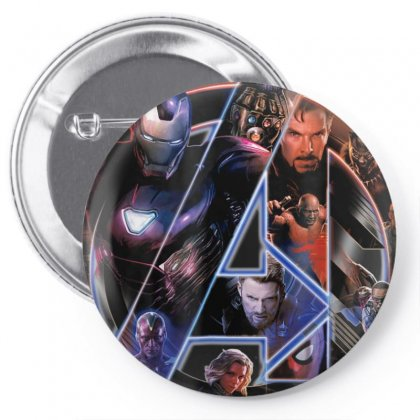 Marvel Avengers Infinity War Neon Team Graphic T Shirt Pin-back Button Designed By Nhan