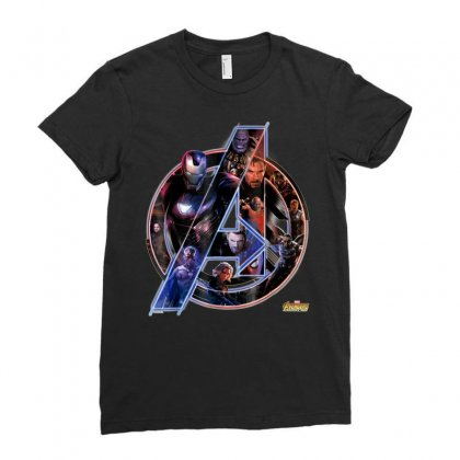 Marvel Avengers Infinity War Neon Team Graphic T Shirt Ladies Fitted T-shirt Designed By Nhan