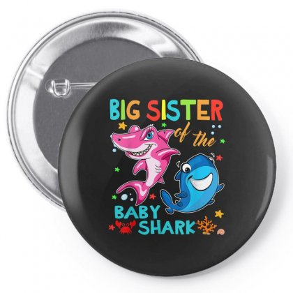 Big Sister Of The Baby Shark Pin-back Button Designed By Kakashop