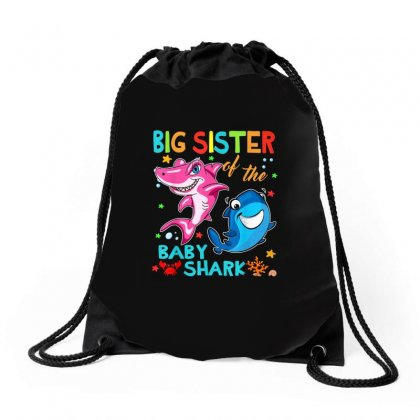 Big Sister Of The Baby Shark Drawstring Bags Designed By Kakashop