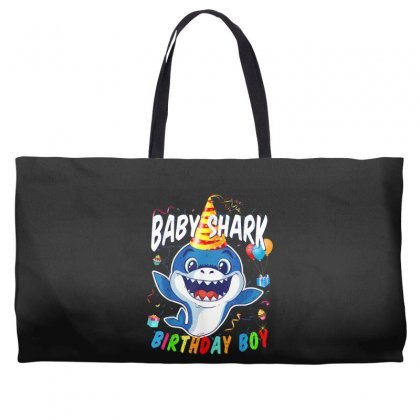 Birthday Boy Baby Shark Weekender Totes Designed By Kakashop