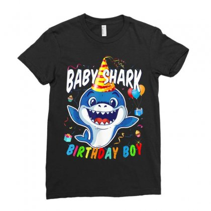 Birthday Boy Baby Shark Ladies Fitted T-shirt Designed By Kakashop
