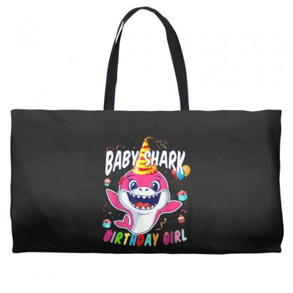 Birthday Girl Baby Shark Weekender Totes Designed By Kakashop