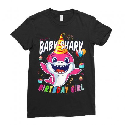Birthday Girl Baby Shark Ladies Fitted T-shirt Designed By Kakashop