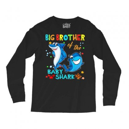 Big Brother Of The Baby Shark Long Sleeve Shirts Designed By Kakashop