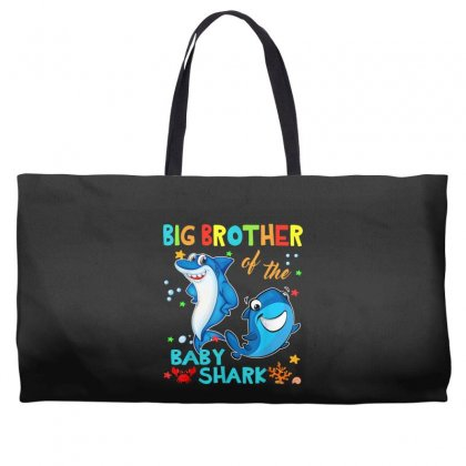 Big Brother Of The Baby Shark Weekender Totes Designed By Kakashop
