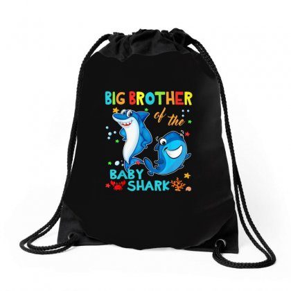 Big Brother Of The Baby Shark Drawstring Bags Designed By Kakashop