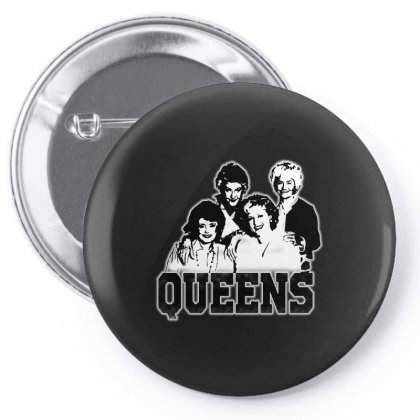 The Queens Pin-back Button Designed By Pinkanzee